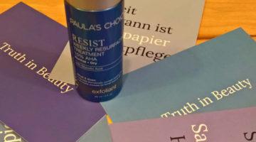Truth in Beauty…. Paula´s Choice Resist 10% AHA Weekly Peeling lässt die Haut strahlen
