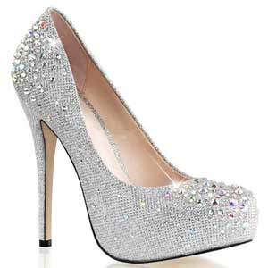 Fashion Trends 2015 - Schuhe Strass Plateau Pumps silber