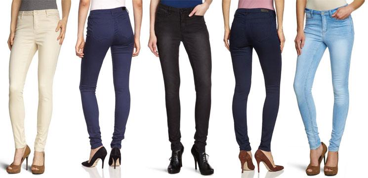 VERO MODA Damen Skinny-Jeans